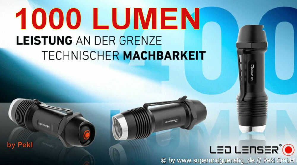 f1r led lenser taschenlampe wasserdicht mit 1000 lumen. Black Bedroom Furniture Sets. Home Design Ideas
