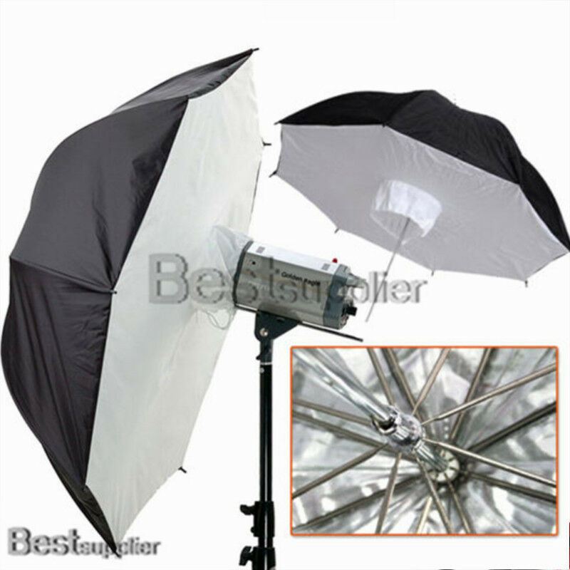 "Reflective Umbrella Softbox: 2x 40"" Video Studio Reflective Umbrella Brolly Box Softbox"
