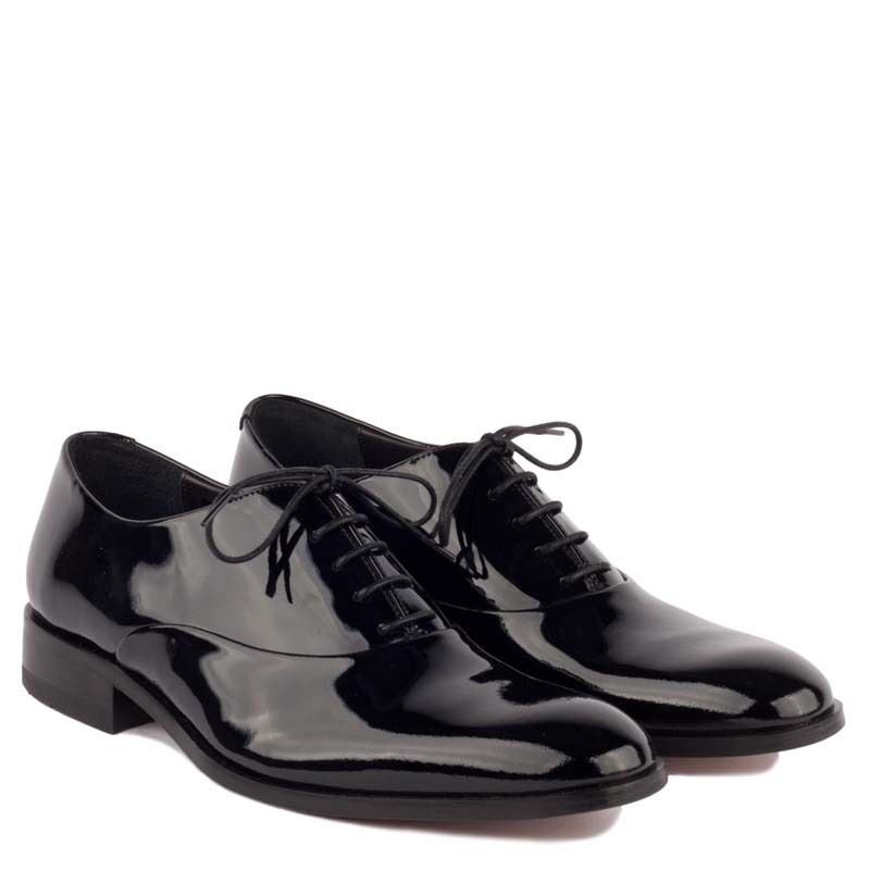 loake black patent leather mens dress shoes lace up formal