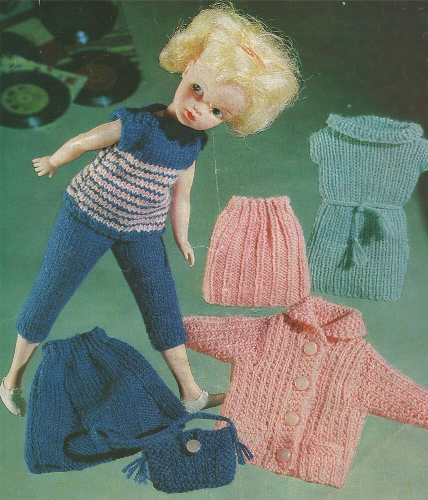 Knitting Patterns For Dolls Clothes 12 Inch : Dolls Clothes Knitting Pattern : Sindy : Bratz : Barbie ...