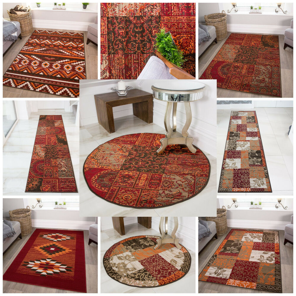 New Small Large Modern Floor Carpets Soft Easy Clean Red