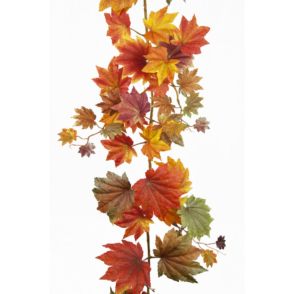 6ft autumn leaves artificial silk display decoration for Artificial leaves for decoration