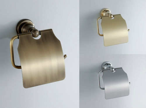 Brass gold bronze chrome toilet paper holder tissue roll hanger bath accessory ebay - Gold toilet paper holder stand ...