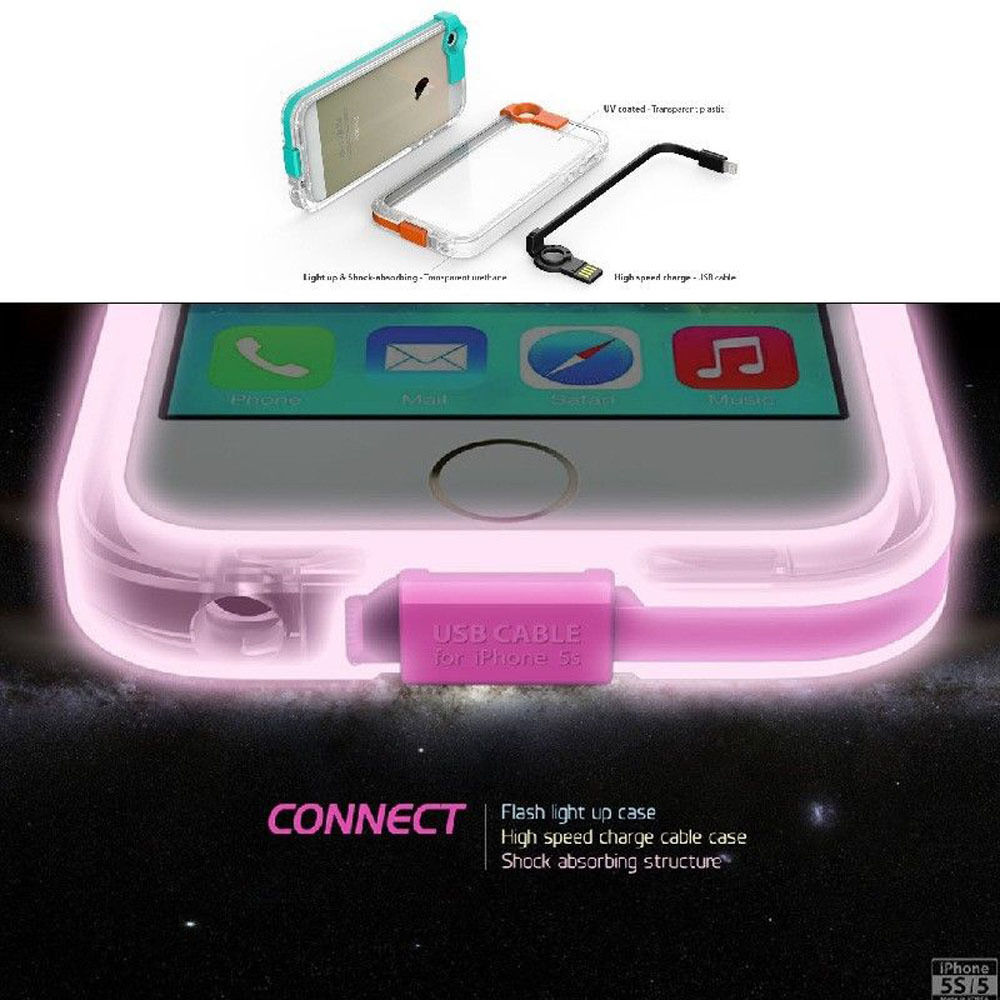 flashlight on iphone 5 flash light up phone cover for iphone 4 4s 5 5s 6 6s 14119