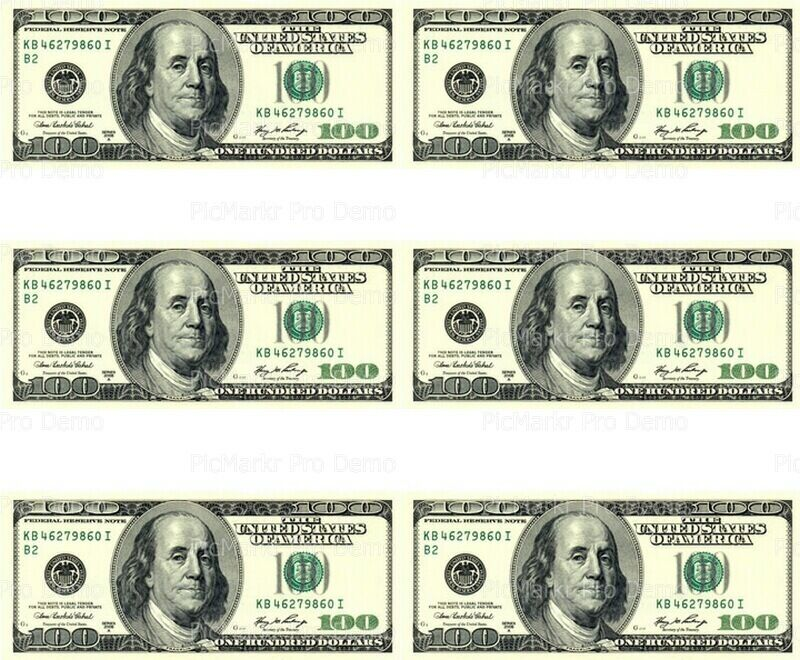 This is a picture of Sly Free Printable 100 Dollar Bill