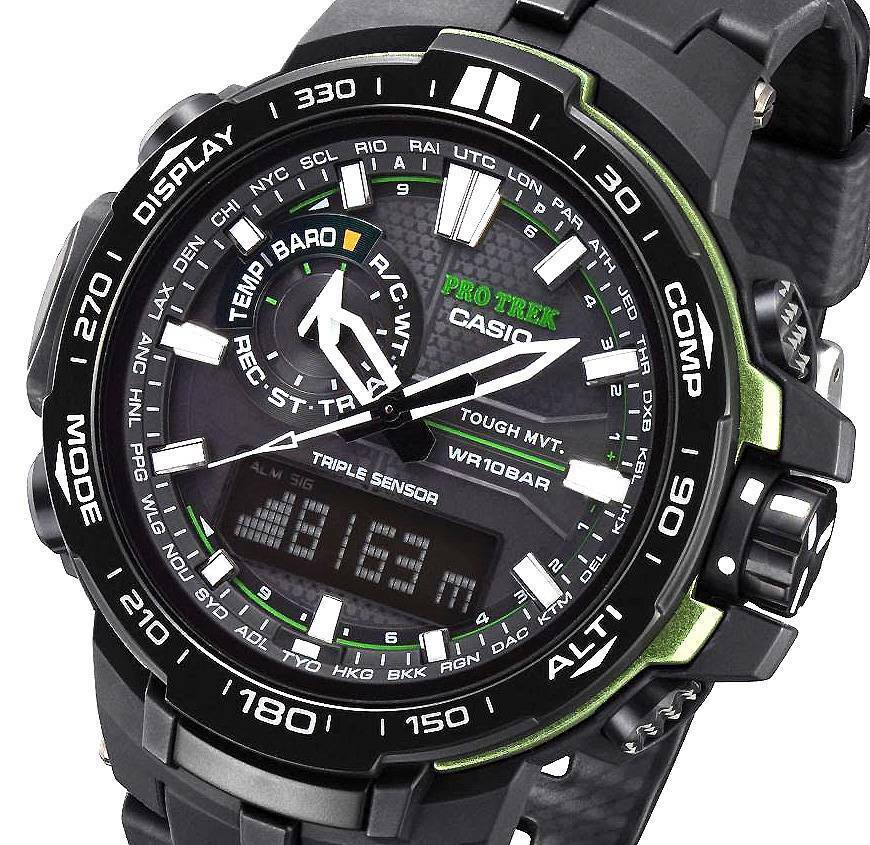 Casio Protrek Altimeter Thermo Baro Compass Atomic Solar
