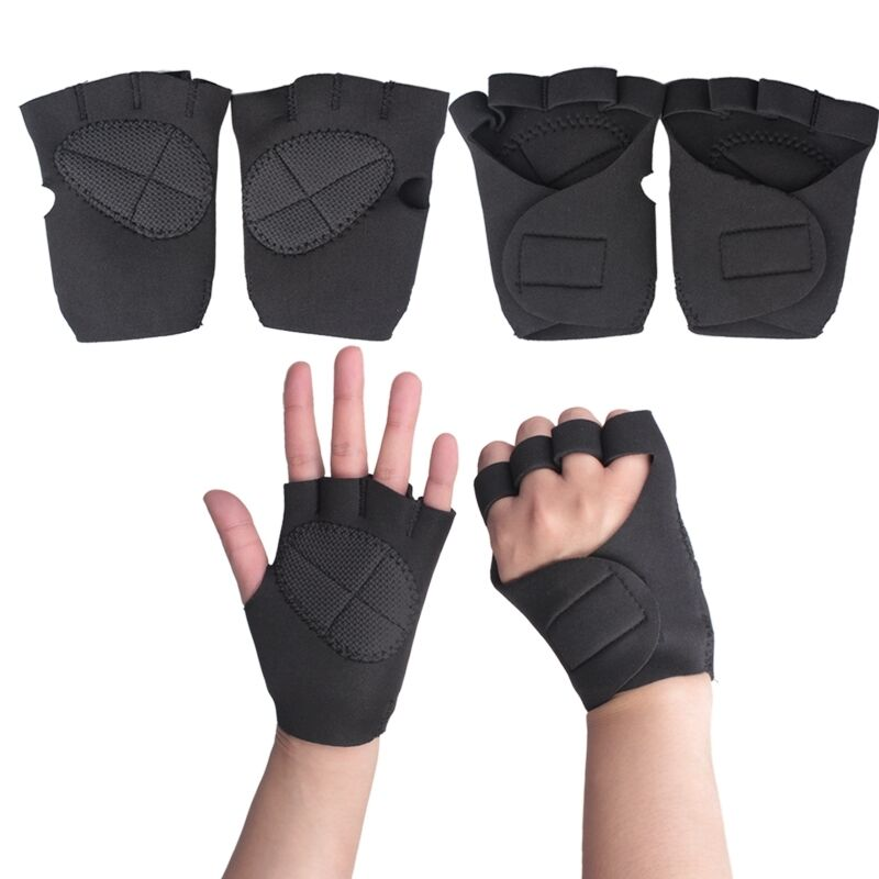 New Sports Exercise Training Fitness Weight Lifting Gym: New Neoprene Weight Lifting Training Fingerless Glove