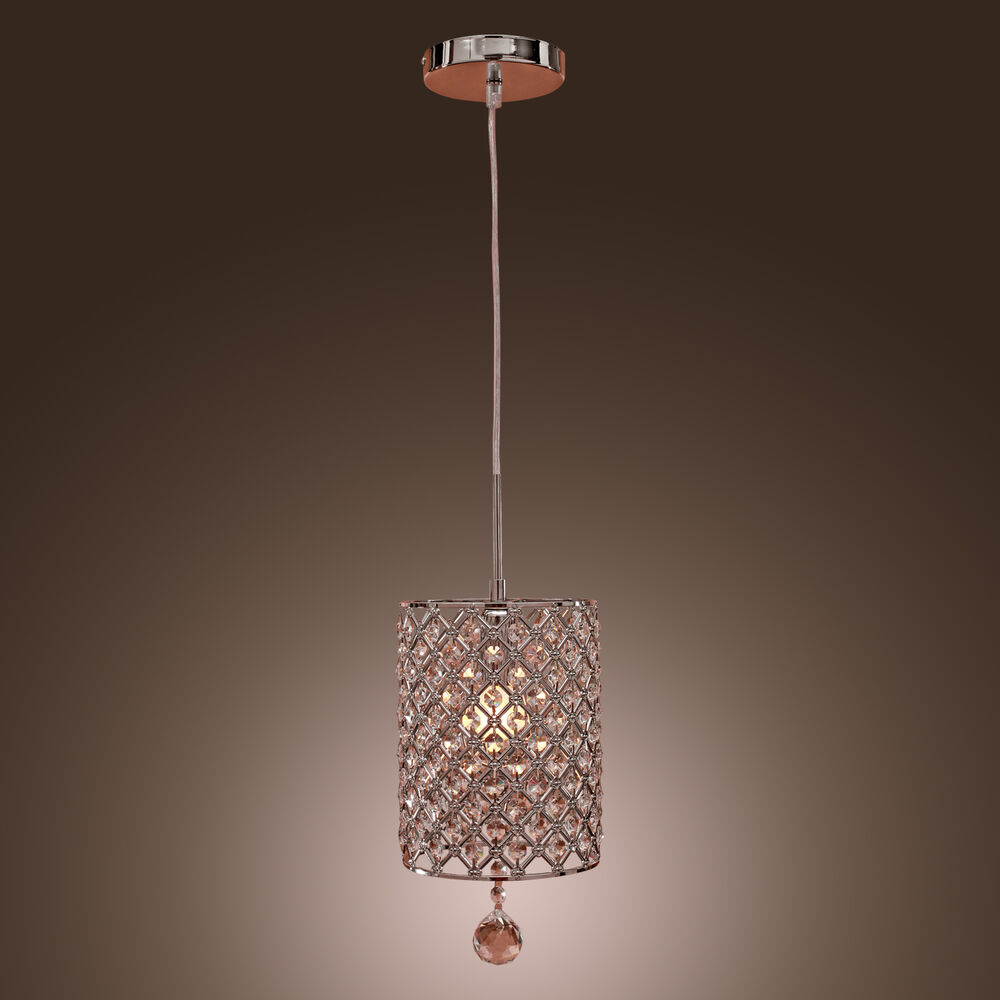 Modern Round Crystal Ceiling Light Pendant Lamp Fixture