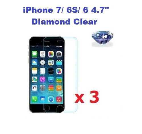 low priced 0eebf 90aa4 3 x Diamond Sparkle Glitter Shimmer Screen Protector for iPhone 8/ 7/ 6S/ 6  4.7
