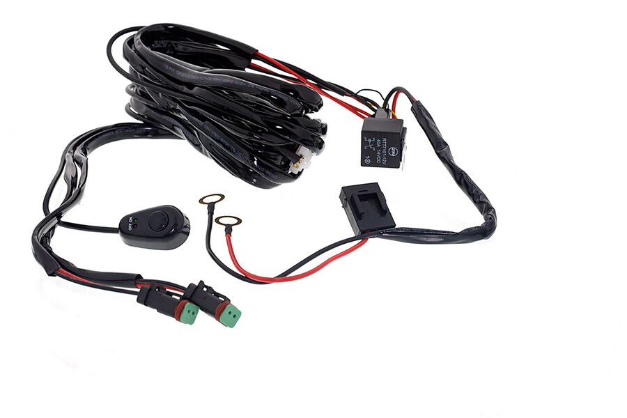 universal wiring harness  u0026 switch kit for led work light driving light
