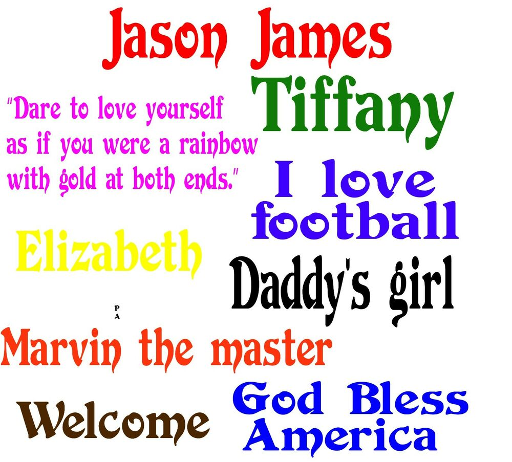 personalized stickers and decals for wall glass plastic