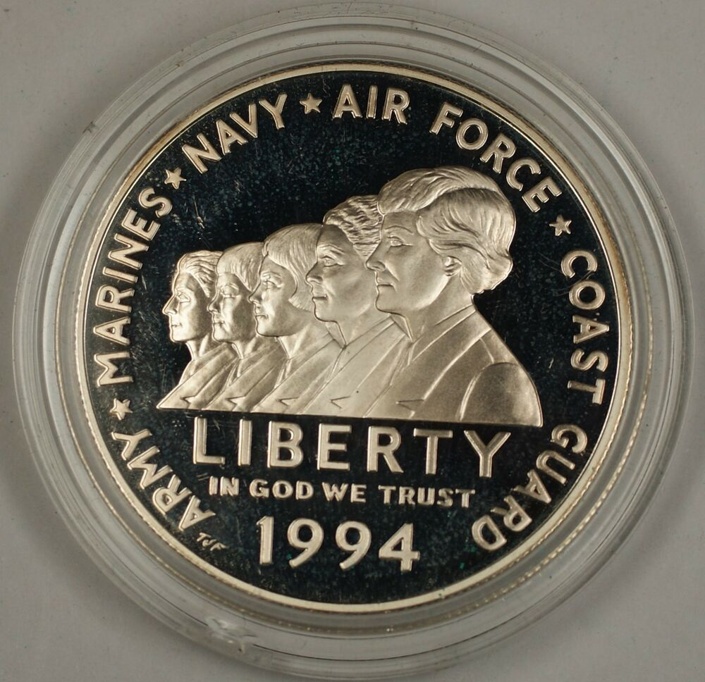 1994 Us Women In Military Service Commemorative Coin