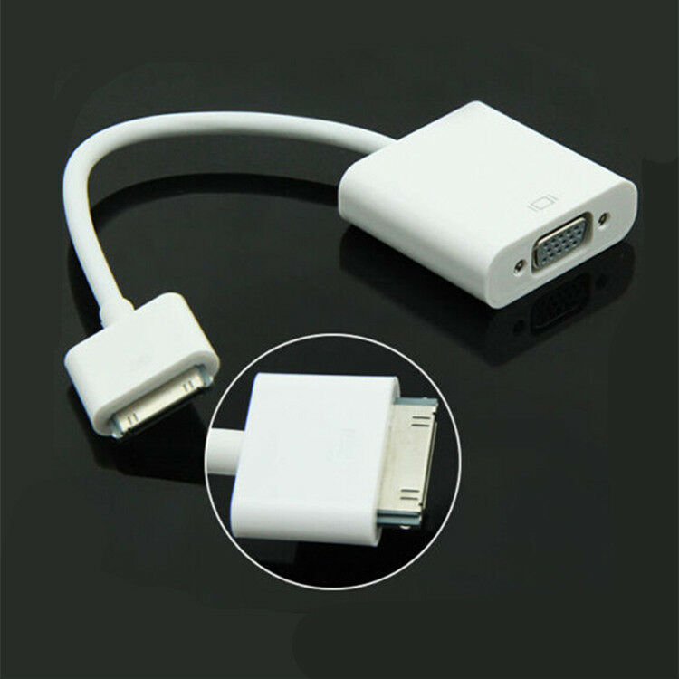 30 pin to vga female video hd converter adapter cable for. Black Bedroom Furniture Sets. Home Design Ideas