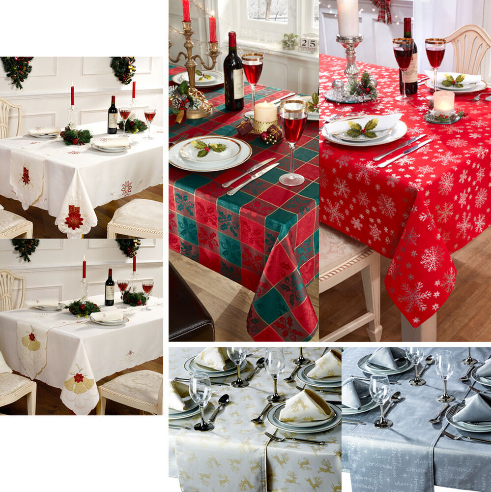 Xmas Christmas Luxury Embroidered Tablecloth Table Runner  : s l1000 from www.ebay.co.uk size 999 x 1000 jpeg 224kB