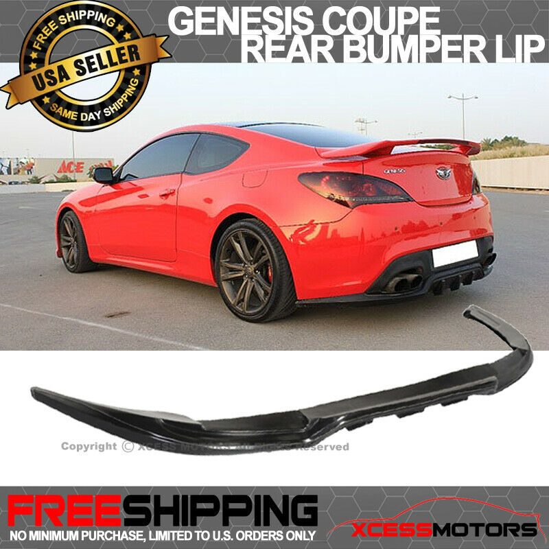 for 10 12 hyundai genesis coupe rear bumper lip spoiler. Black Bedroom Furniture Sets. Home Design Ideas