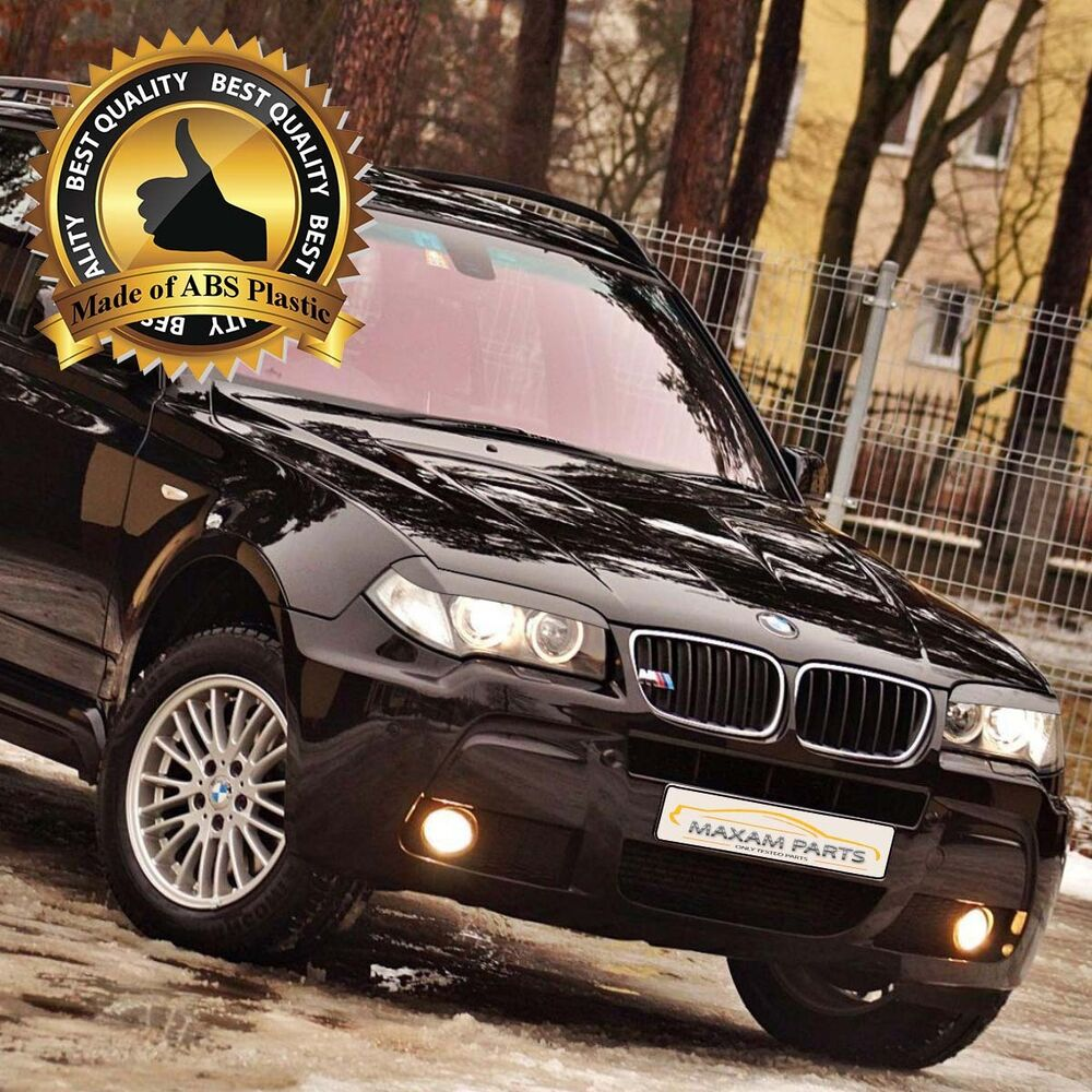 new bmw x3 e83 2003 2010 headlight eyebrows eyelids. Black Bedroom Furniture Sets. Home Design Ideas
