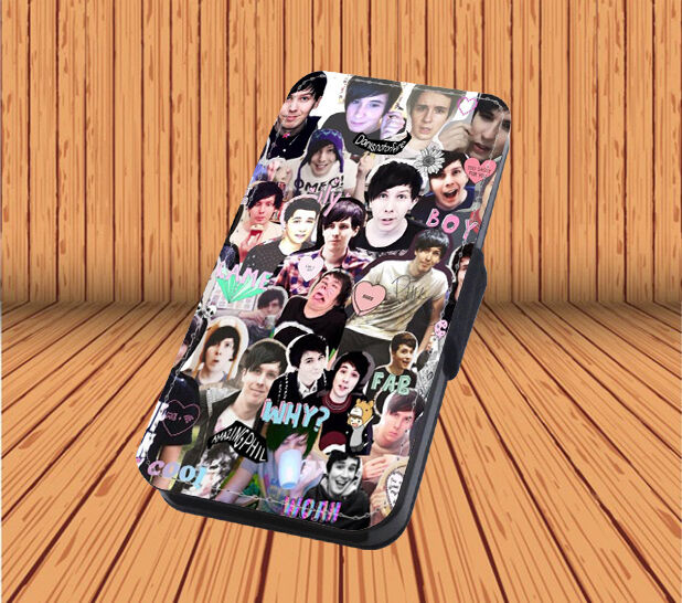 iphone flip phone case dan and phil for faux leather flip iphone amp samsung galaxy 15266