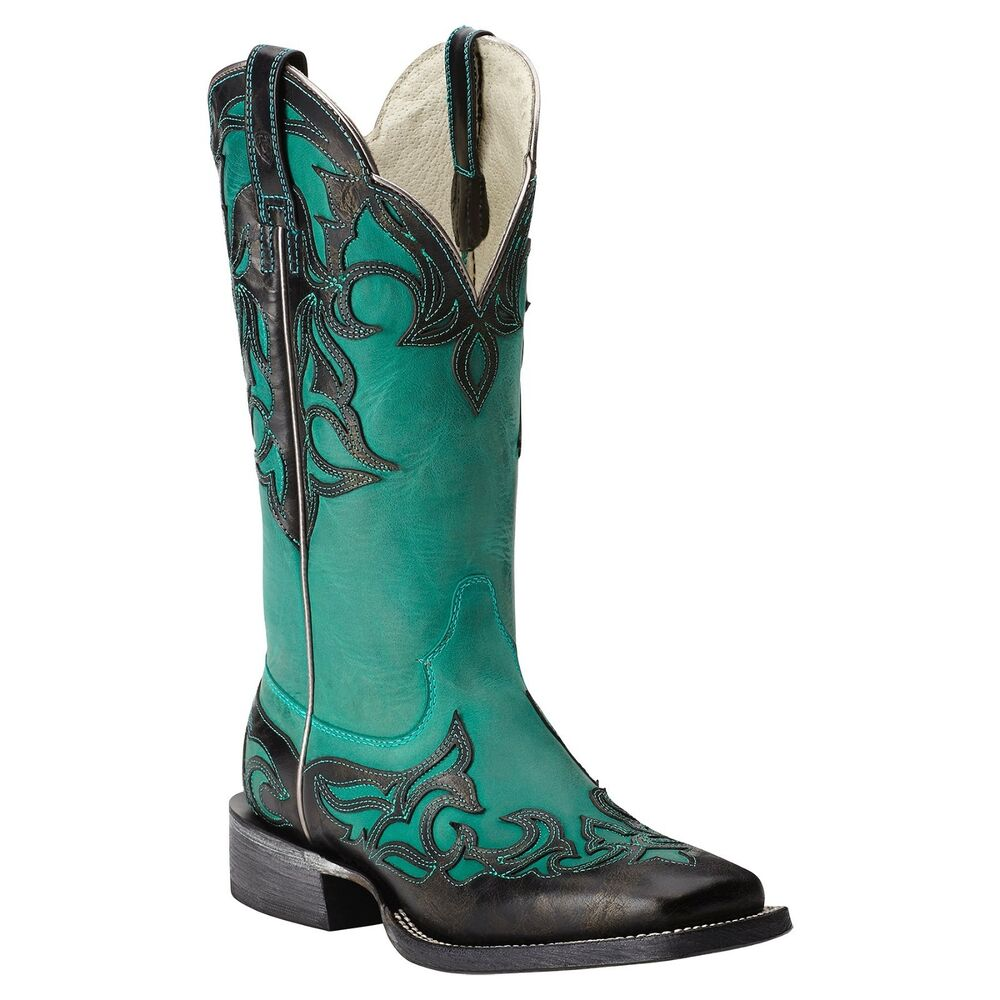 Creative ARIAT WOMENu0026#39;S ROUND UP WIDE SQUARE TOE BOOT - STYLE #10016317