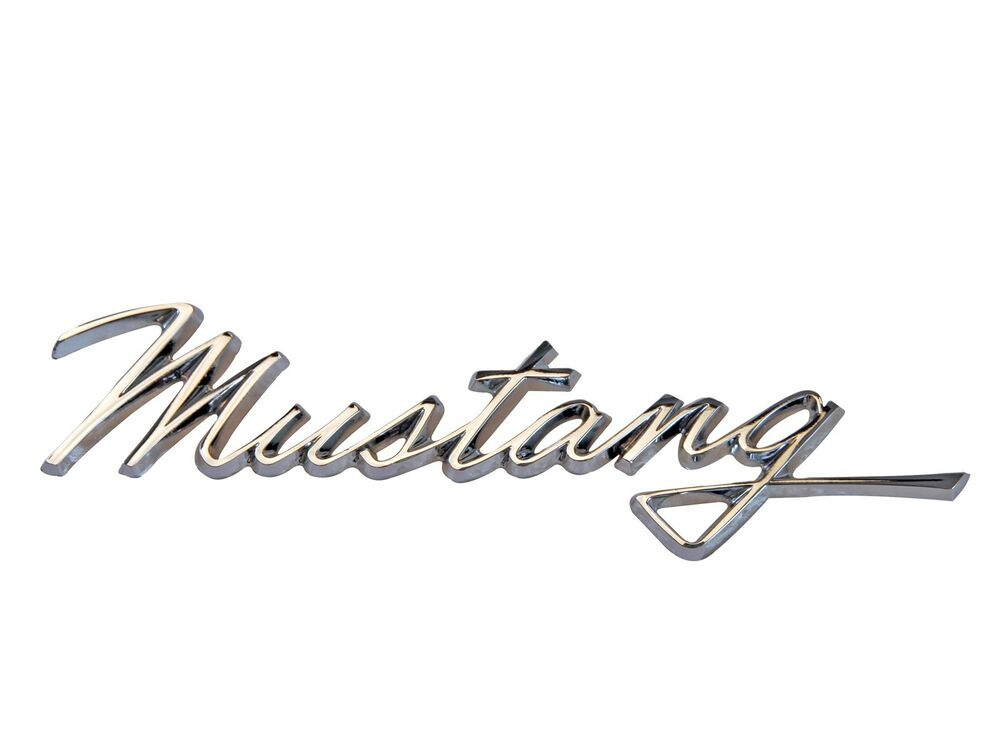 mustang fender emblem mustang script 1968 scott drake ebay. Black Bedroom Furniture Sets. Home Design Ideas