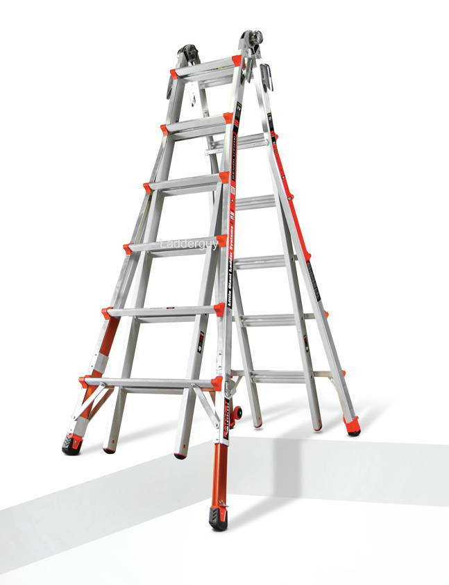 26 1a Revolution Little Giant Ladder With Ratchet Levelers