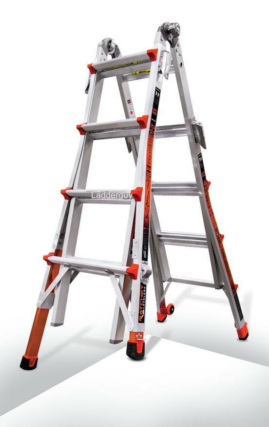 17 1a Revolution Little Giant Ladder With Ratchet Levelers