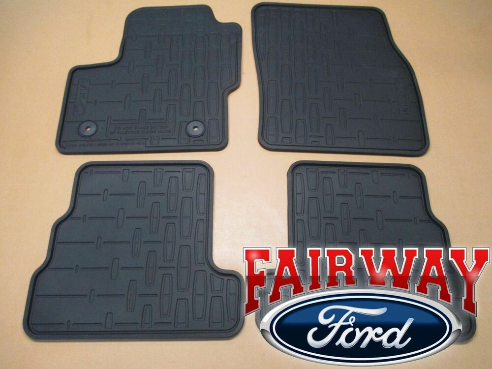 15 Thru 17 Lincoln Mkc Oem Factory Black Rubber All