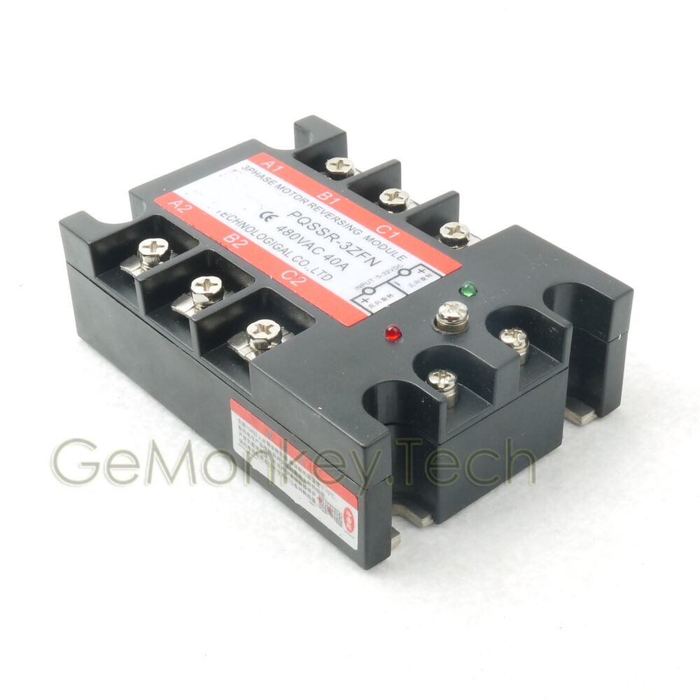 3 Phase Solid State Relay Ssr 4 32vdc 40 480vac 40a Motor