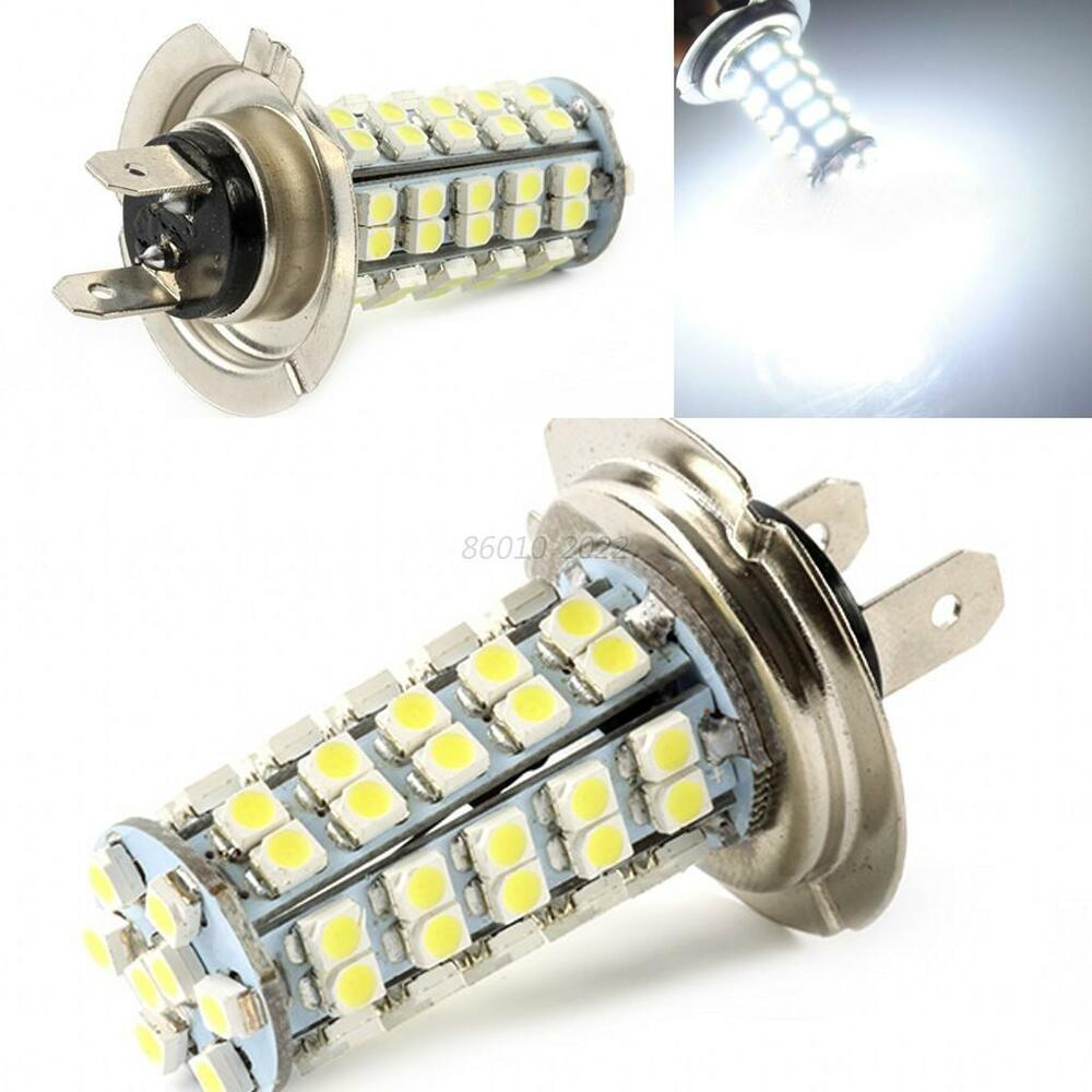 12V Car Vehicle H7 68 3528 SMD LED White Xenon Headlight
