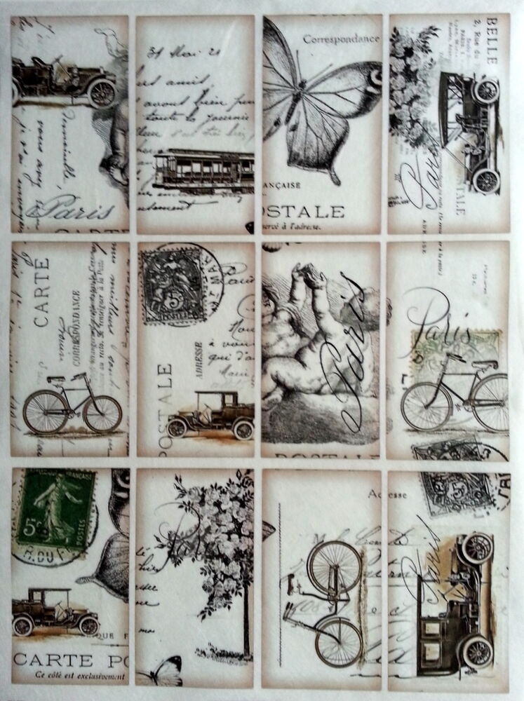 Rice decoupage paper vintage labels craft decoupage for Where to buy contact paper for crafts