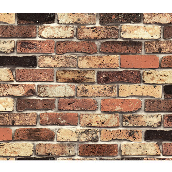 Vintage shabby chic brick self adhesive wallpaper vinyl for Vinyl peel and stick wallpaper