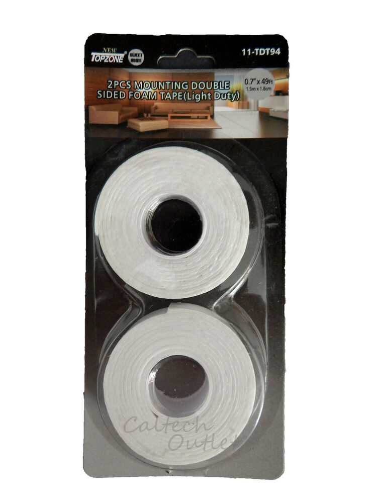 2pcs Mounting Double Sided Foam Tape Sticky Attachment
