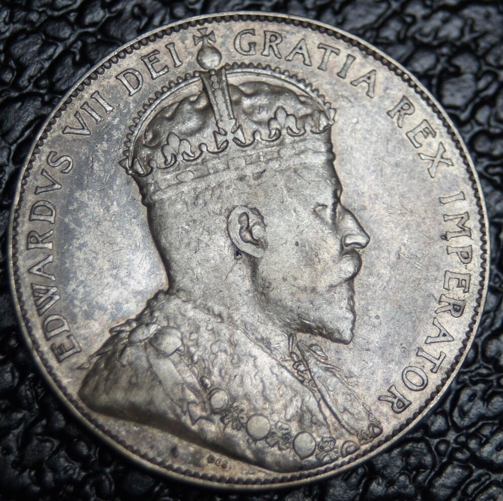 Old Canadian Coin 1910 50 Cents Silver Edward Vii Gorgeous Coin Ncc Ebay
