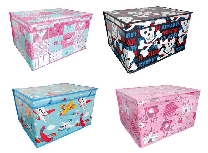 Childrens Jumbo Bedroom Room Tidy Toy Storage Chest Box Trunk: Kids Children Large Toy Box Storage Box Foldable Chest