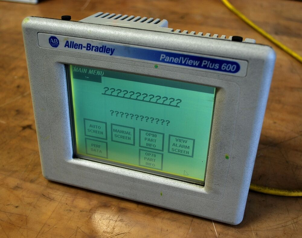 Allen Bradley Panelview plus 600 User manual