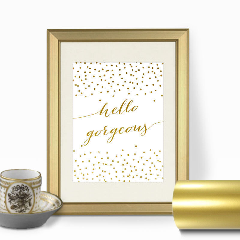 Gold Quote Print Gold Print Hello Gorgeous Wall Art