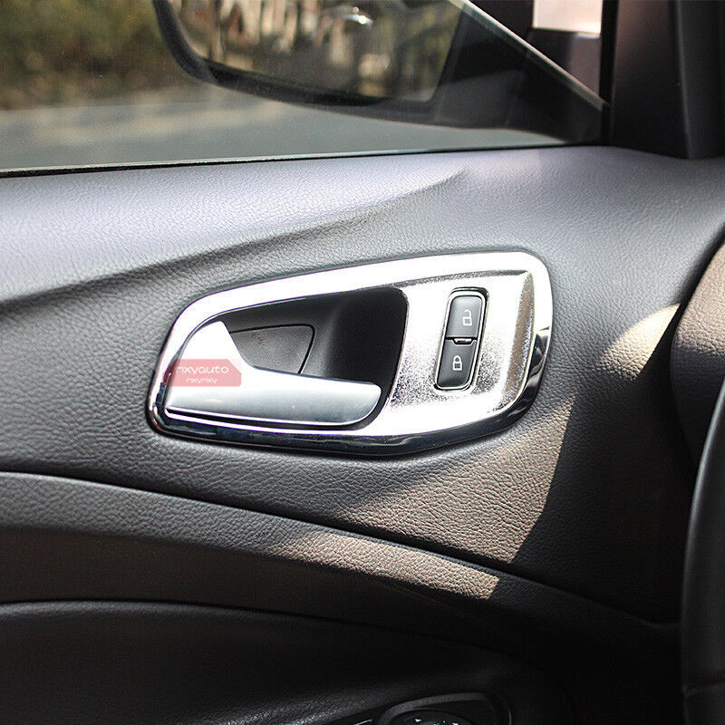 Chrome Trim Inside Door Handle Cover For Ford Kuga Escape