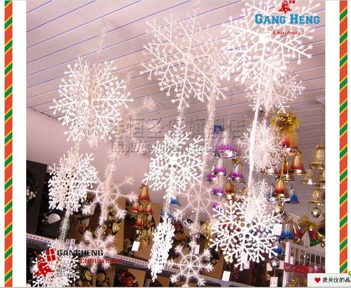 Merry christmas decorations supply white snow snowflakes for Christmas decoration suppliers