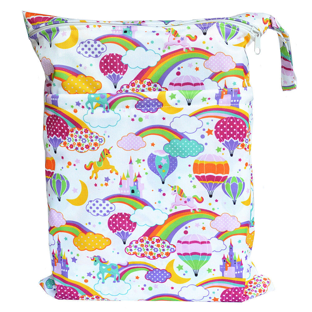 hot air balloon wet dry bag baby cloth diaper nappy bag reusable with two pocket ebay. Black Bedroom Furniture Sets. Home Design Ideas