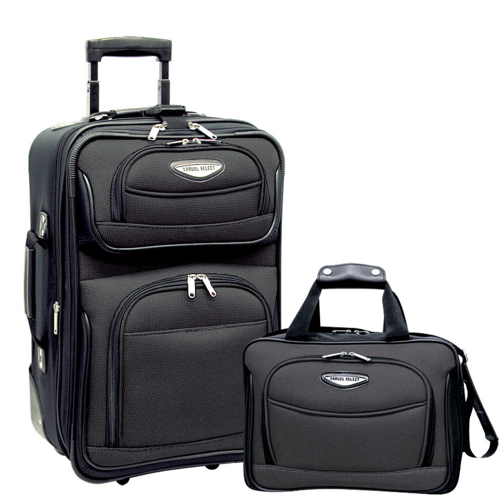 "Travel Select Gray Amsterdam 2pc Carry-on 21"" Rolling ..."