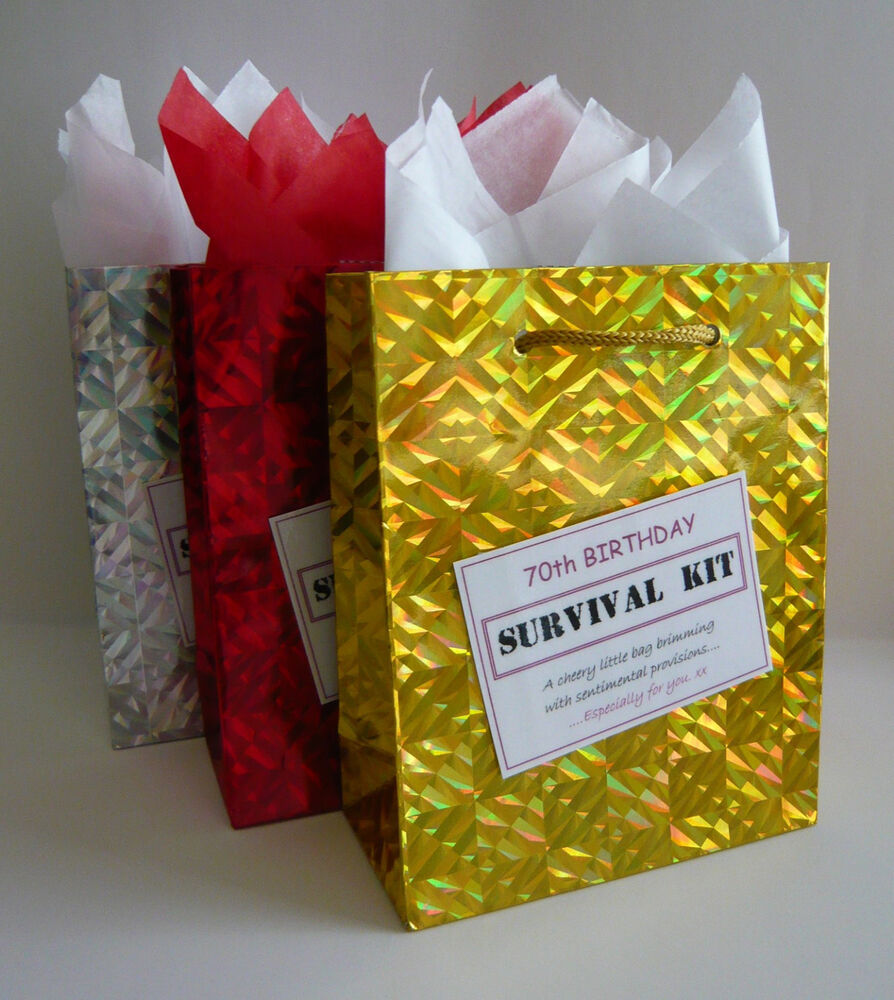 Details About FEMALE 70th Birthday SURVIVAL KIT Humorous Gift Idea Unusual Fun Novelty Present