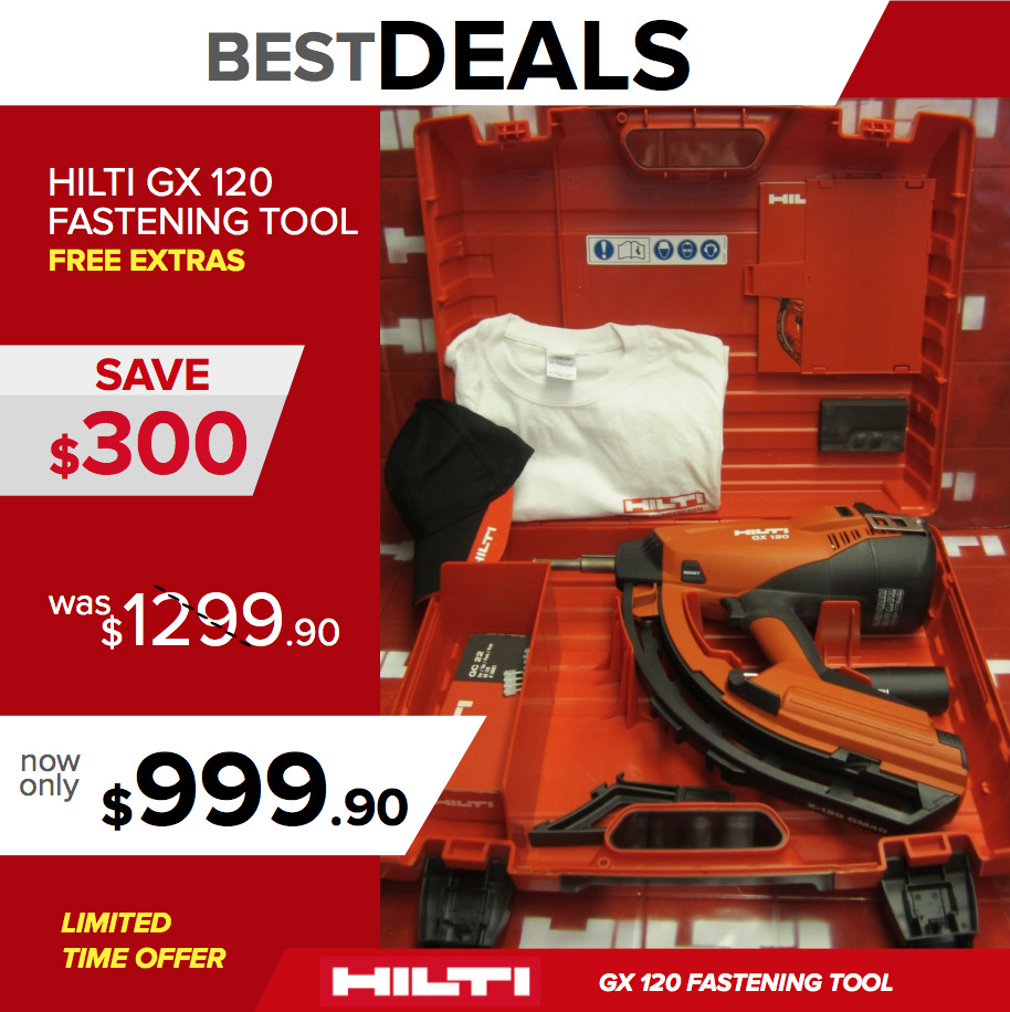 hilti gx 120 w hard hilti case brand new original free extras fast shipping ebay. Black Bedroom Furniture Sets. Home Design Ideas