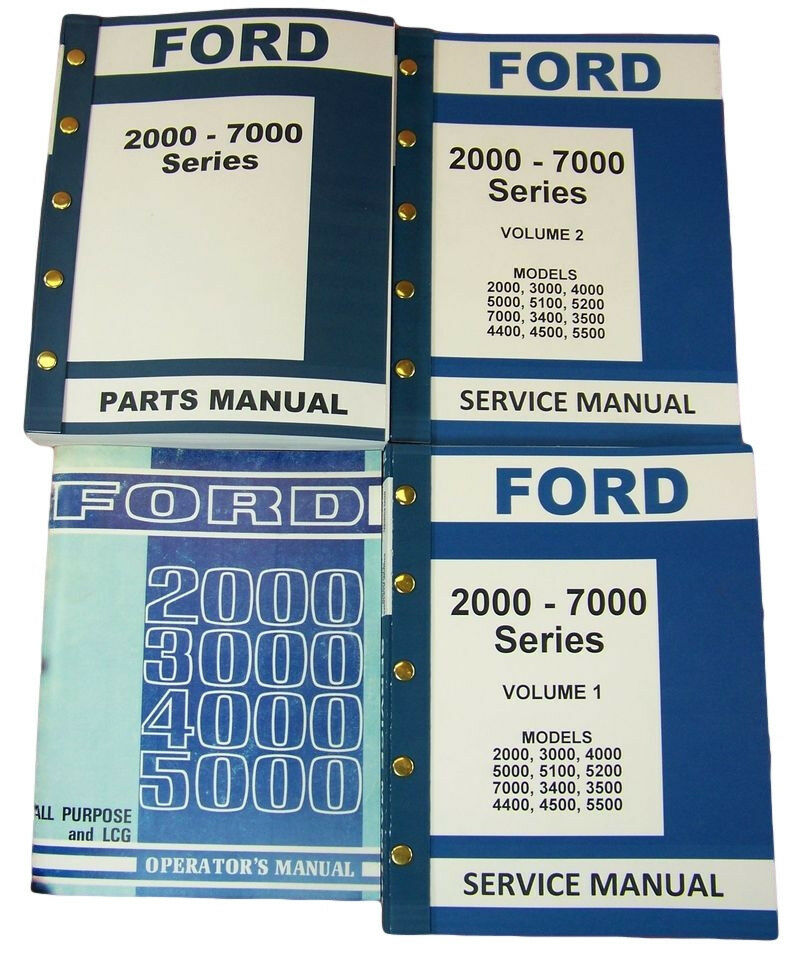 lot ford 2000 5000 series tractor service repair operators. Black Bedroom Furniture Sets. Home Design Ideas