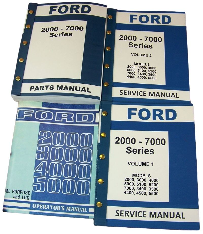 Ford 5000 Tractor Parts Catalog : Lot ford  series tractor service repair operators