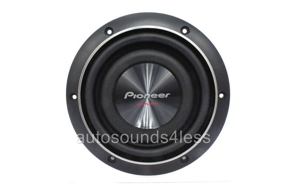 pioneer ts sw2002d2 600 watts 8 dual 2 ohm shallow mount. Black Bedroom Furniture Sets. Home Design Ideas
