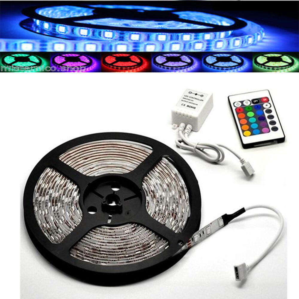 Striscia a led smd 5050 300 led 5 metri strip rgb bobina for Luce led striscia