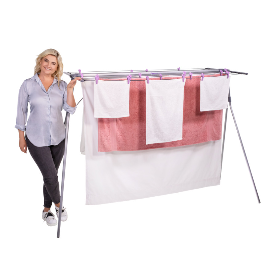 portable clothes line mrs peggs deluxe 10 line clothesline outdoor indoor 10103