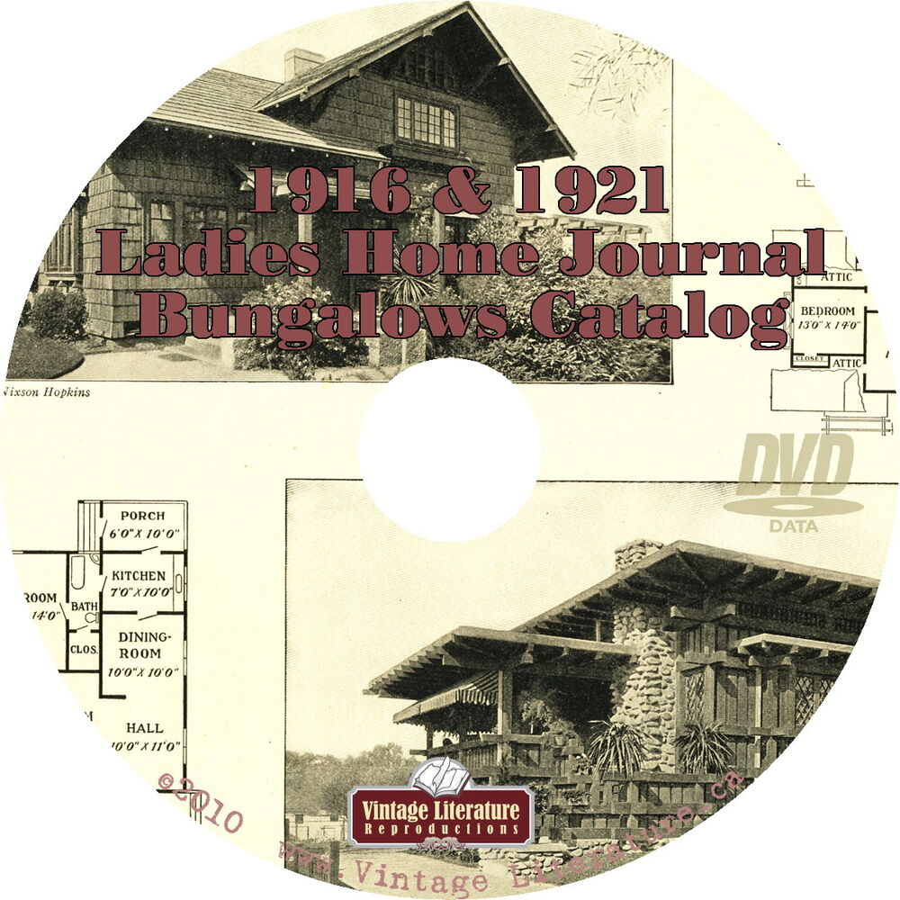 1916 1921 ladies home journal bungalow plans catalog for Shaker style home plans
