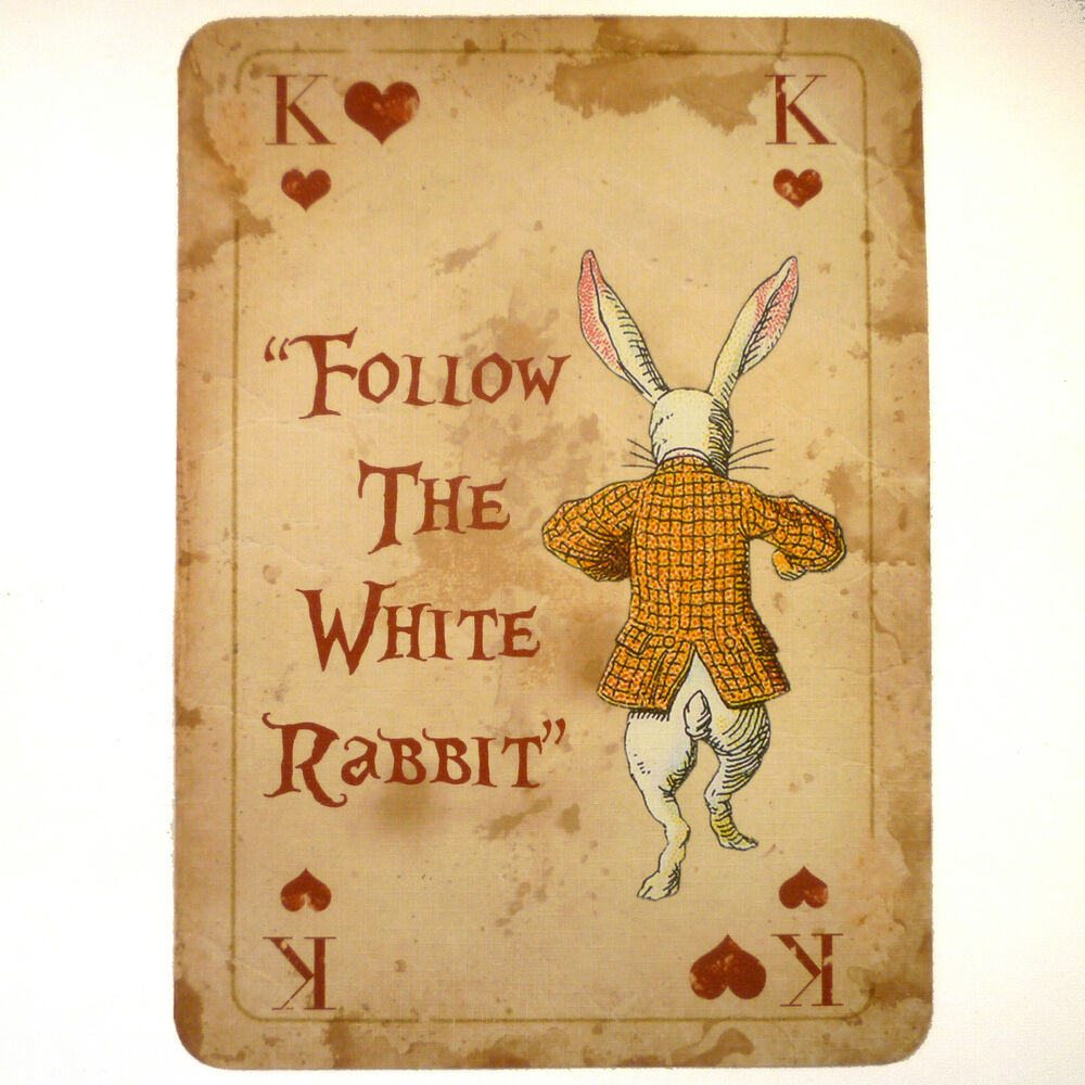 Alice In Wonderland Vintage A4 Quote Playing Card Prop Mad