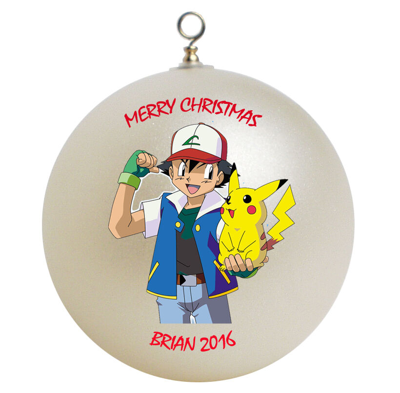 Baptism Ornament Personalized Christmas By Personalizedgallery: Personalized Pokemon & Pikachu Christmas Ornament Gift Add