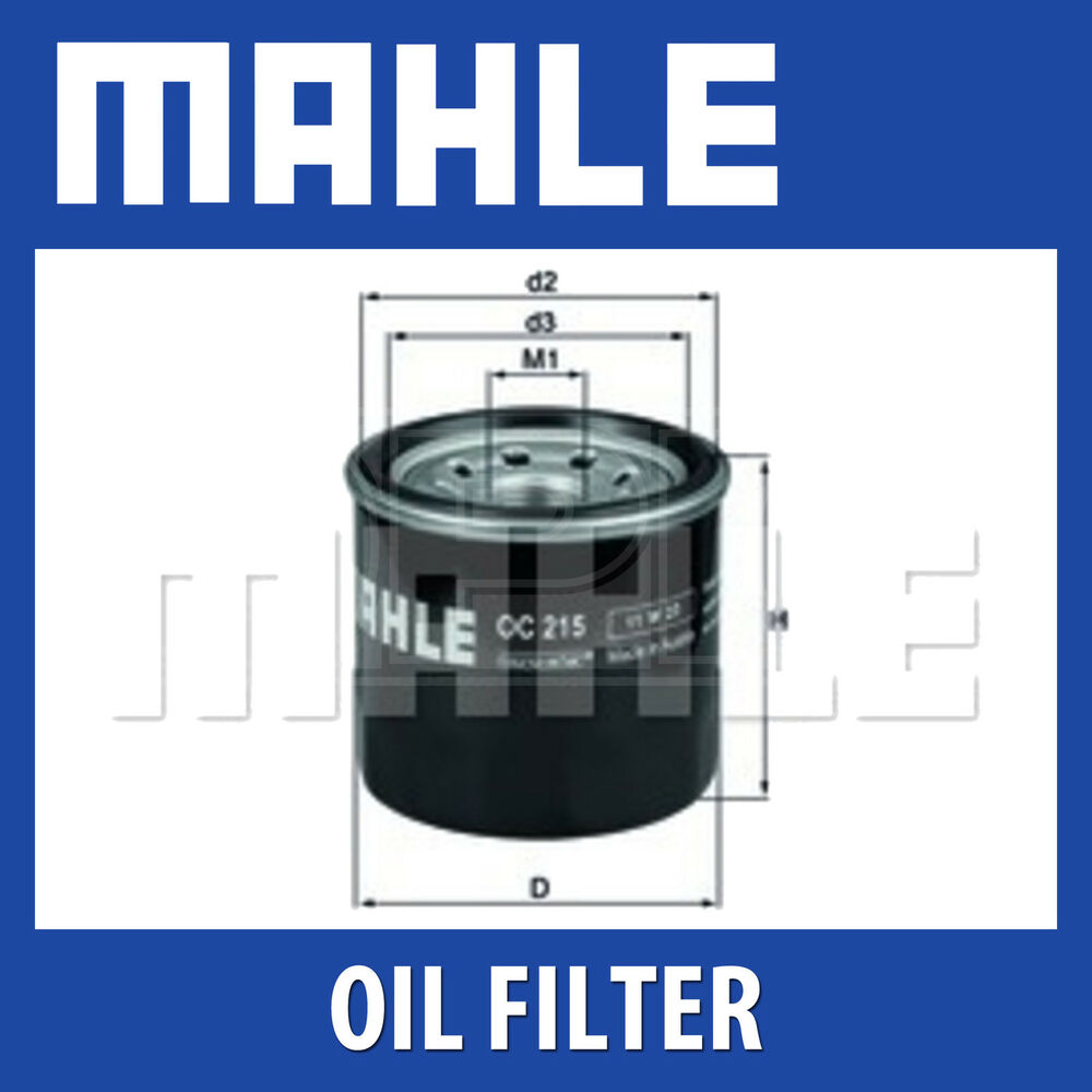 Mahle Oil Filter OC215 - Fits Daihatsu, Suz. - Genuine ...